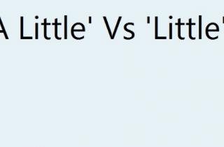 LITTLE vs. A LITTLE gramática inglés nivel 5 FCE